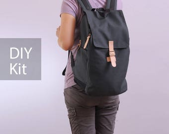 Freedom Backpack - Unisex Backpack -Bag DIY Kit with Sewing Pattern & Tutorials (all the materials included)