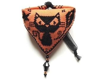 cat halloween Pendibule Ornament - Durene J Cross Stitch - DJXS2421