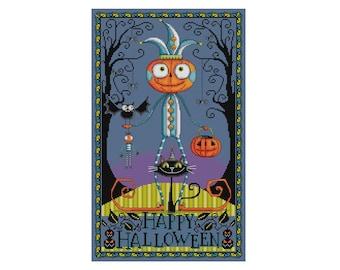 Halloween Night - Durene J Cross Stitch Pattern - DJXS2424