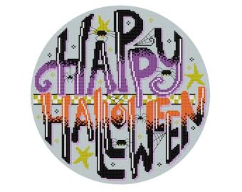 Happy Halloween - Durene J Cross Stitch Pattern - DJXS2425