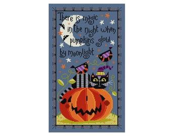 Magic Night Halloween Pattern - Durene J Cross Stitch - DJXS2426