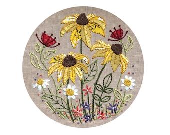 Echinacea Field - Durene J Embroidery Pattern - DJE1036