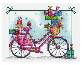 Delivering Christmas Presents - Durene J Cross Stitch Pattern - DJXS2240