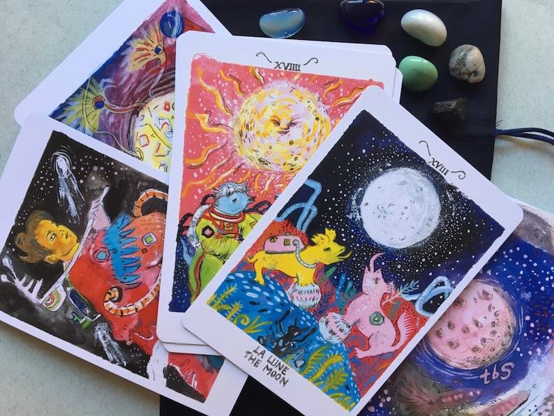 Occult tarot cards, tarot deck, divination magick, tarot reading, witchy  gift, alien art, space tarot