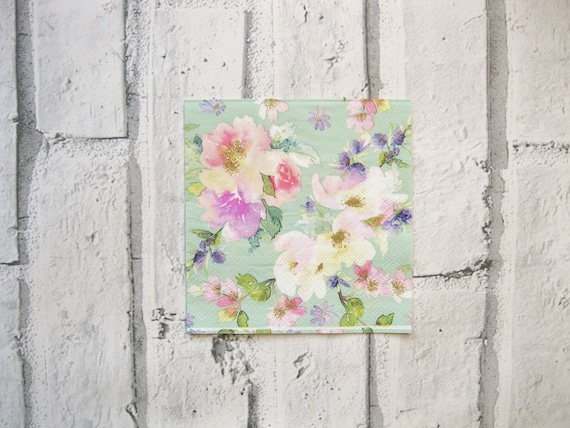 4x Paper Napkins for Decoupage Craft and Party Love and Peace