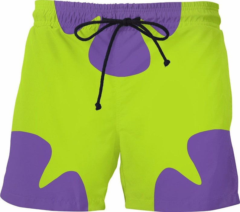 0dff7f33c1 Funny Mens Swim Trunks Patrick Star 90's Fashion TV Shows | Etsy