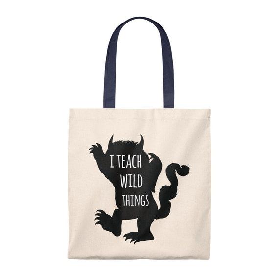 Teaching Wild Things tote bag