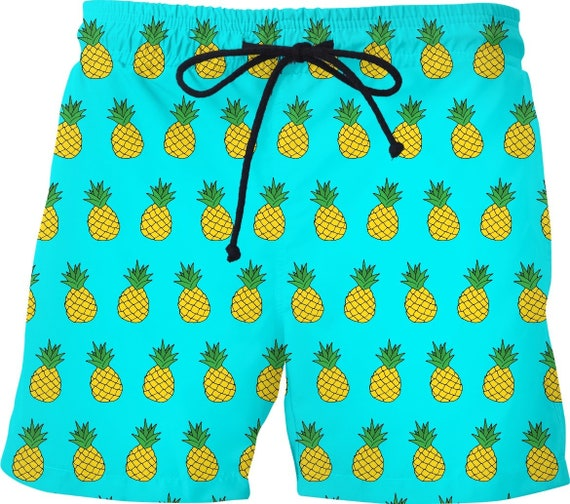 4623d3f57afbc Pineapple Mens Swim Shorts Bathing Suit Trunks With Liner | Etsy