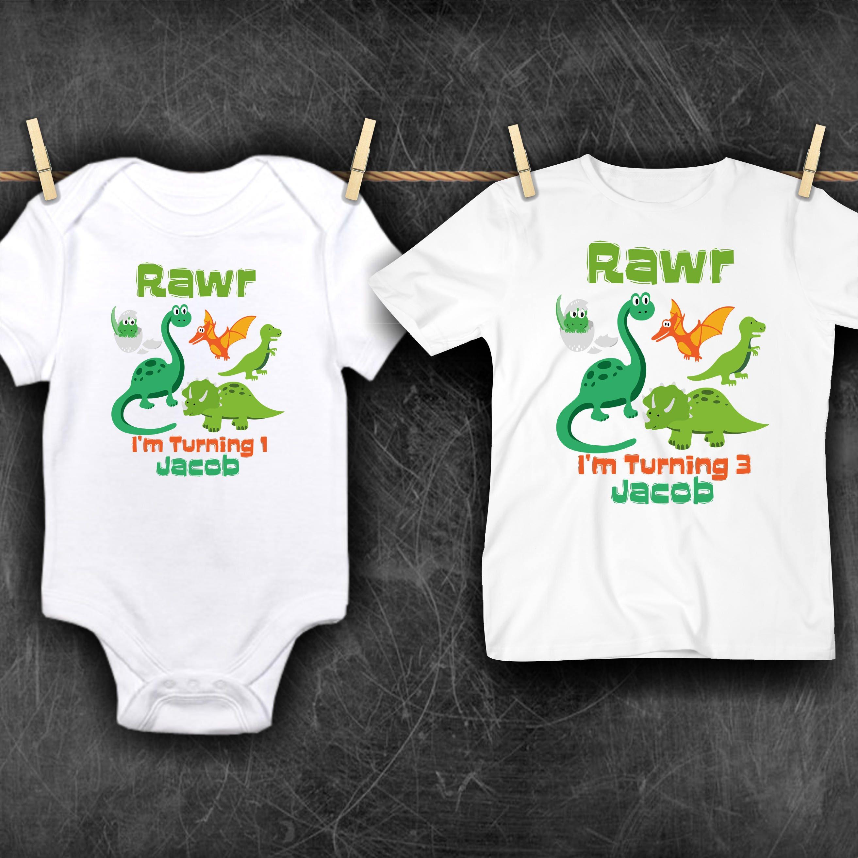 Dinosaur 1st Birthday Shirt T Rex