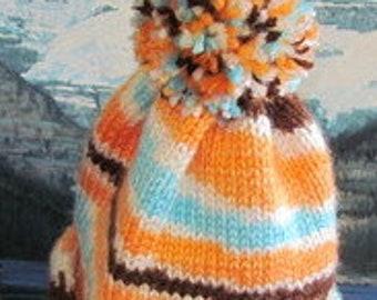 023CF Hand knit baby cap