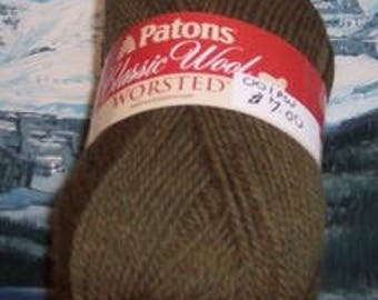 201308001 Patons classic wool 3.5 oz Moss Heather