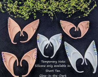 Fantasy Cosplay Slip-on Silicone or Latex Elf Fairy Ears with Earrings