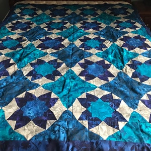 lap quilt or can be a wall hanging multiple colors FINISHED LAP QUILT machine quilted ready to gift 64 x 84.5 inches