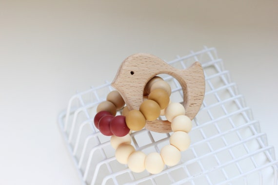 Baby Kids Molar Toys Wooden Animal Shape Teether Teething Toy Shower Crafts Gift