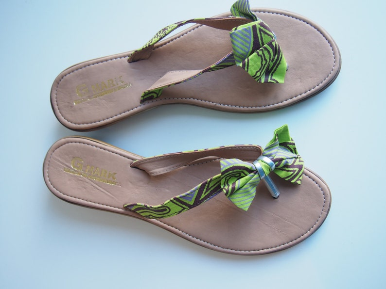 ec5cf50cac36b8 African print Ankara slippers ladies sandals size 3940