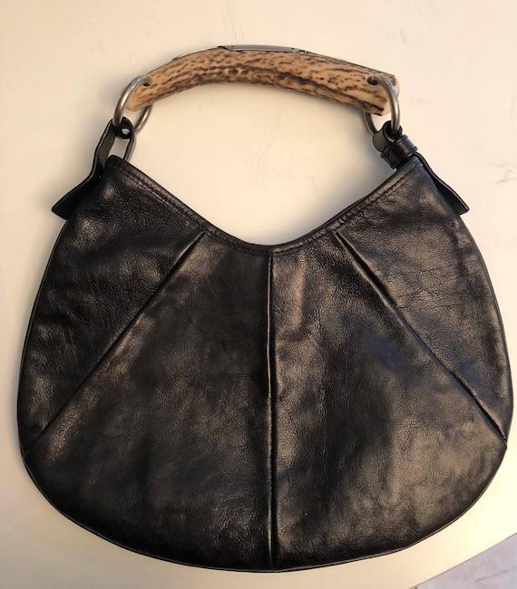 Ysl Mombasa Leather Bag Mombasa Vintage Ysl Black Leather Bag Etsy