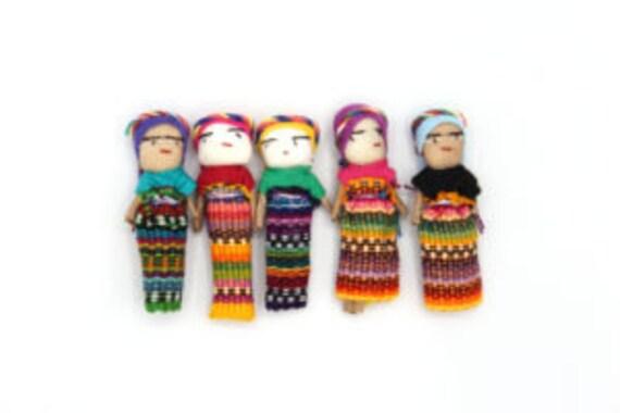 Worry Dolls In A Headband Hairband for Girls Fashion Hair Cute Made In Guatemala
