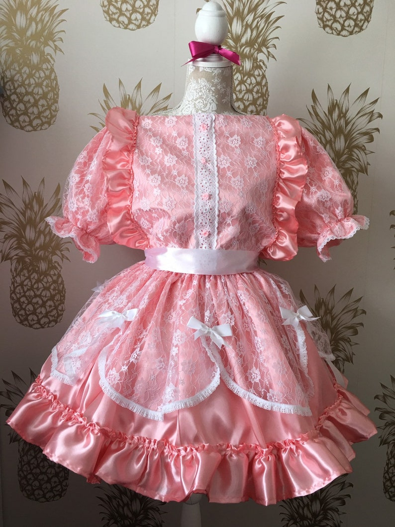 Made to Measure Dress Mincing Any Colour Fetish Trans Prissy Sissy Maid CDTV
