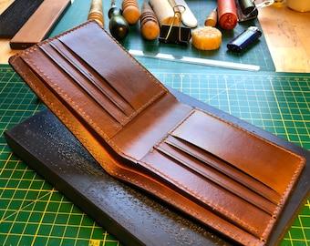 Leather Bi fold Wallet for men/ Vegetable tanned leather bifold wallet / Coin wallet / Handmade wallet / Full grain leather wallet