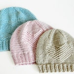 Heart hat Knitting PATTERN for babies and toddlers - ENGLISH - DIY Valentines hat pattern - You are loved hat pattern - Instant download