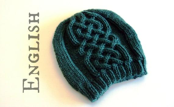 Celtic Beanie Knittig Pattern Celtic Cables Hat Knitting Etsy