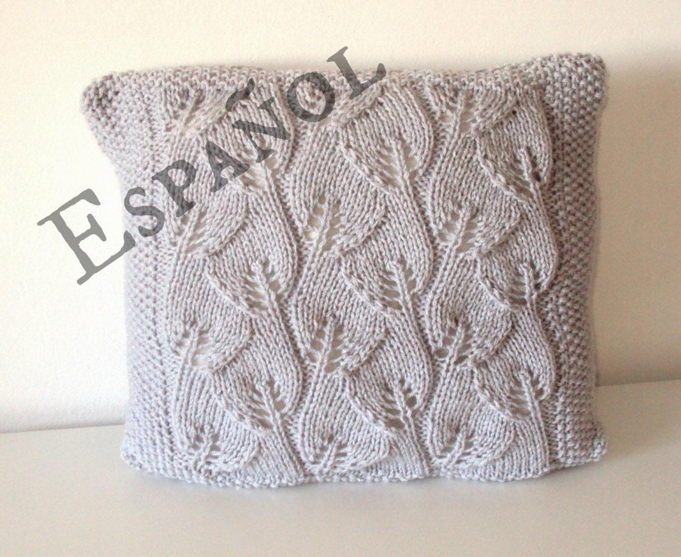 PATRÓN Almohadón hojas tejido patrón almohadón tejido patrón | Etsy
