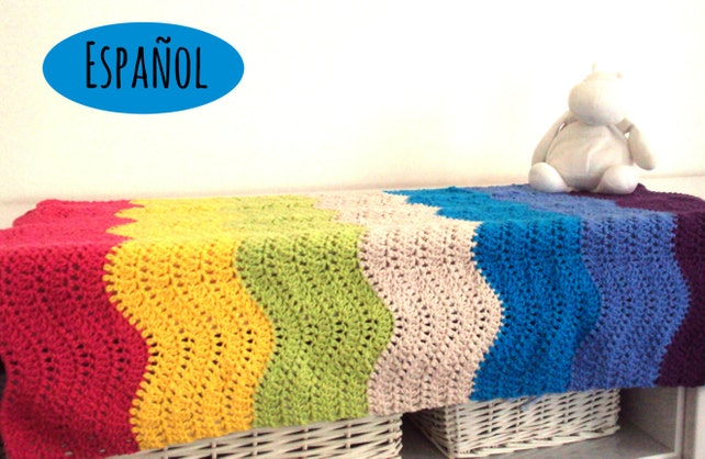 Einfach häkeln Muster Decke von Baby-Wellen Muster Decke | Etsy