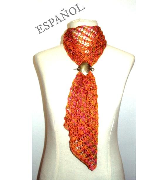 PATRÓN de bufanda tejida tipo lace Patrón de bufanda motivo | Etsy