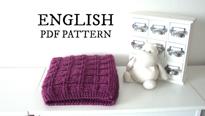Easy Knitting Pattern Baby Blanket Easy Baby Blanket Knitting Etsy