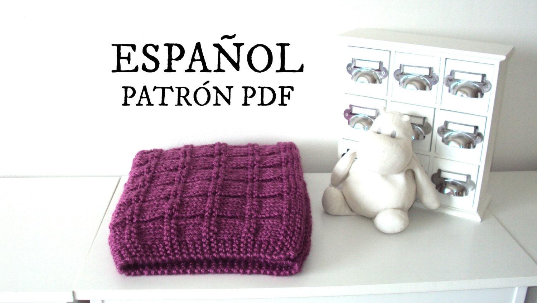 PATRÓN Mantilla bebé tejida patrón tejido para principiantes | Etsy