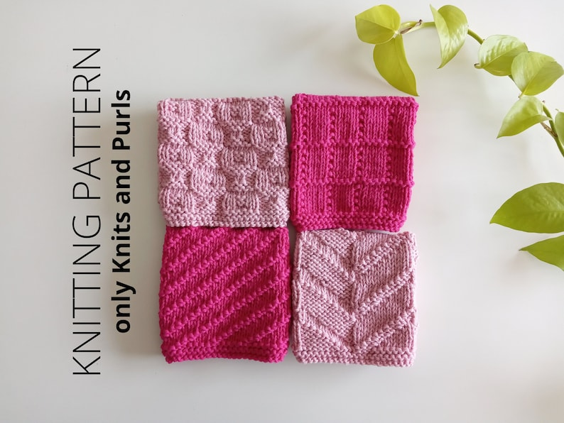DISHCLOTH SET  3 dishcloth knitting pattern collection 4 image 0