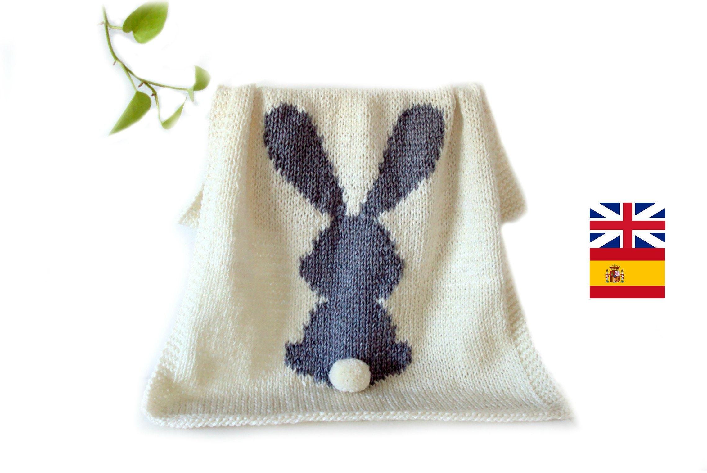 PATRÓN DE PUNTO Manta de conejo bebé patrón de tejido manta | Etsy