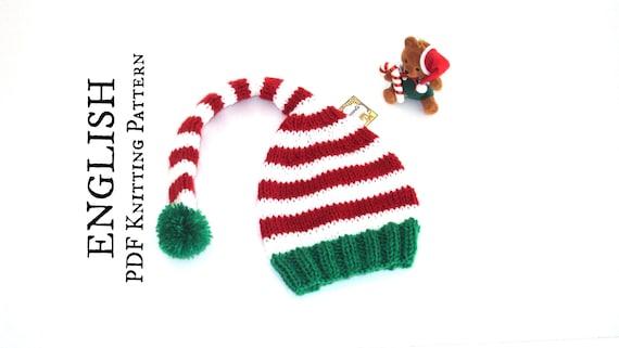 Knitting Pattern Elf Hat Diy Christmas Elf Hat Pattern Easy Etsy