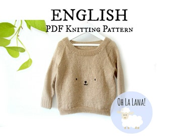 Basic Baby Sweater KNITTING PATTERN, Baby Jumper Knitting Pattern, 4 sizes, Knit Baby Sweater Pattern, Instant Download, PDF baby pattern