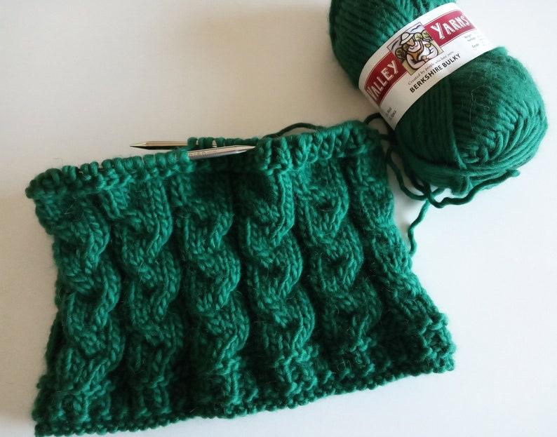 ALERCES cowl Knitting PATTERN  ENGLISH  Neckwarmer knitting image 0