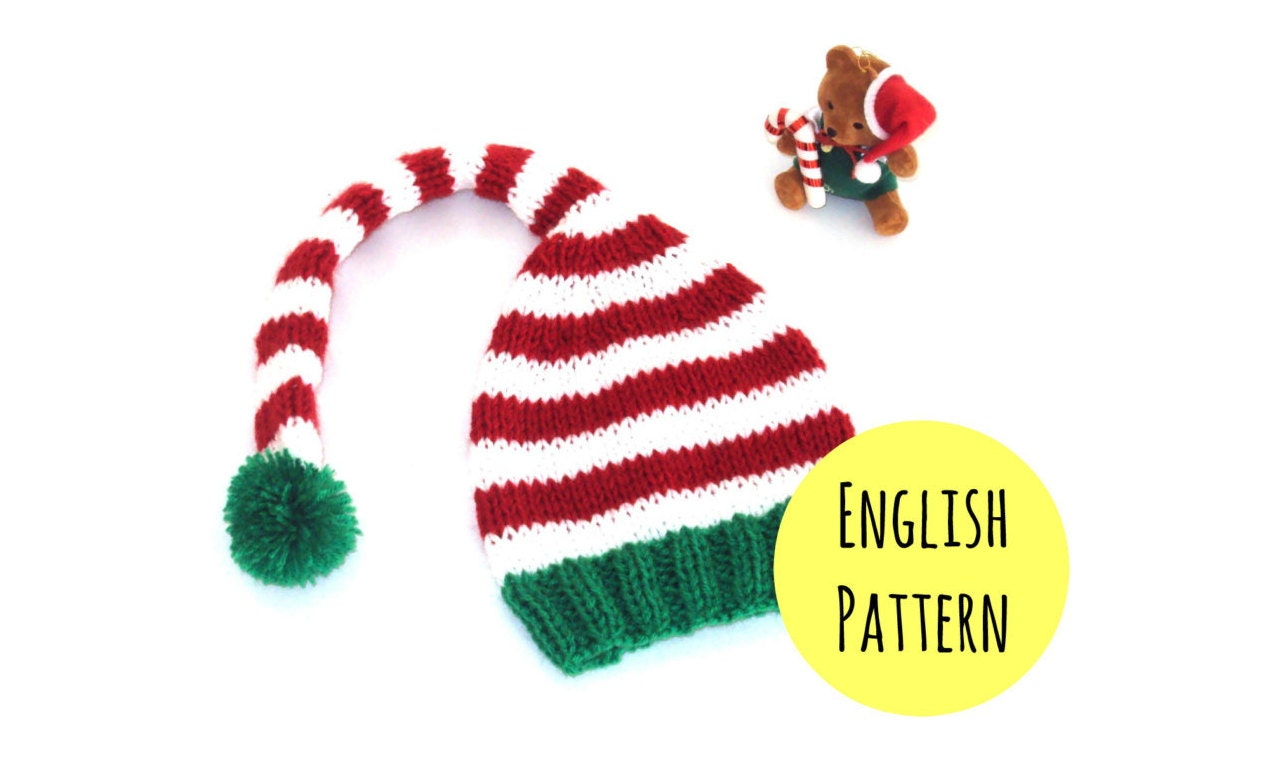 Elf Hat Knitting PATTERN - DIY Christmas hat pattern - Elf hat ...