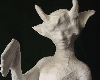 Puck - Midsummer Night's Dream Shakespeare Faun Sculpture Nude Boy Figure