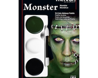 Mehron Tri-Color Palettes/ Face Paint/Theatrical Make Up/ 3 Colors/ Many colors available