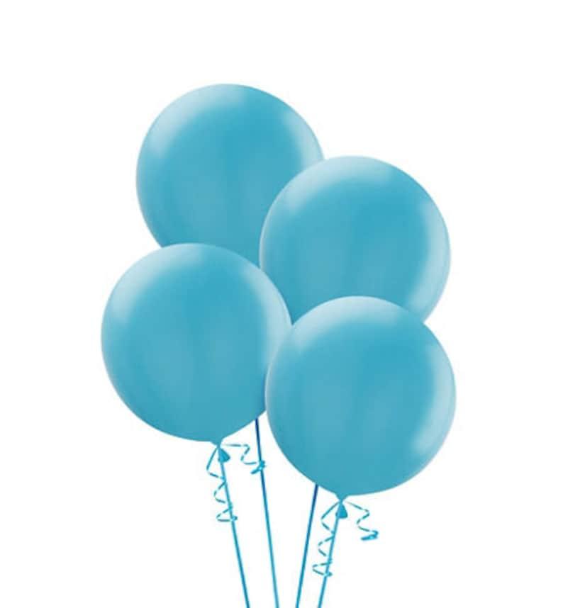 Grote Ronde Caribische Blauwe Latex Ballonnen 4 Ct Grote Etsy