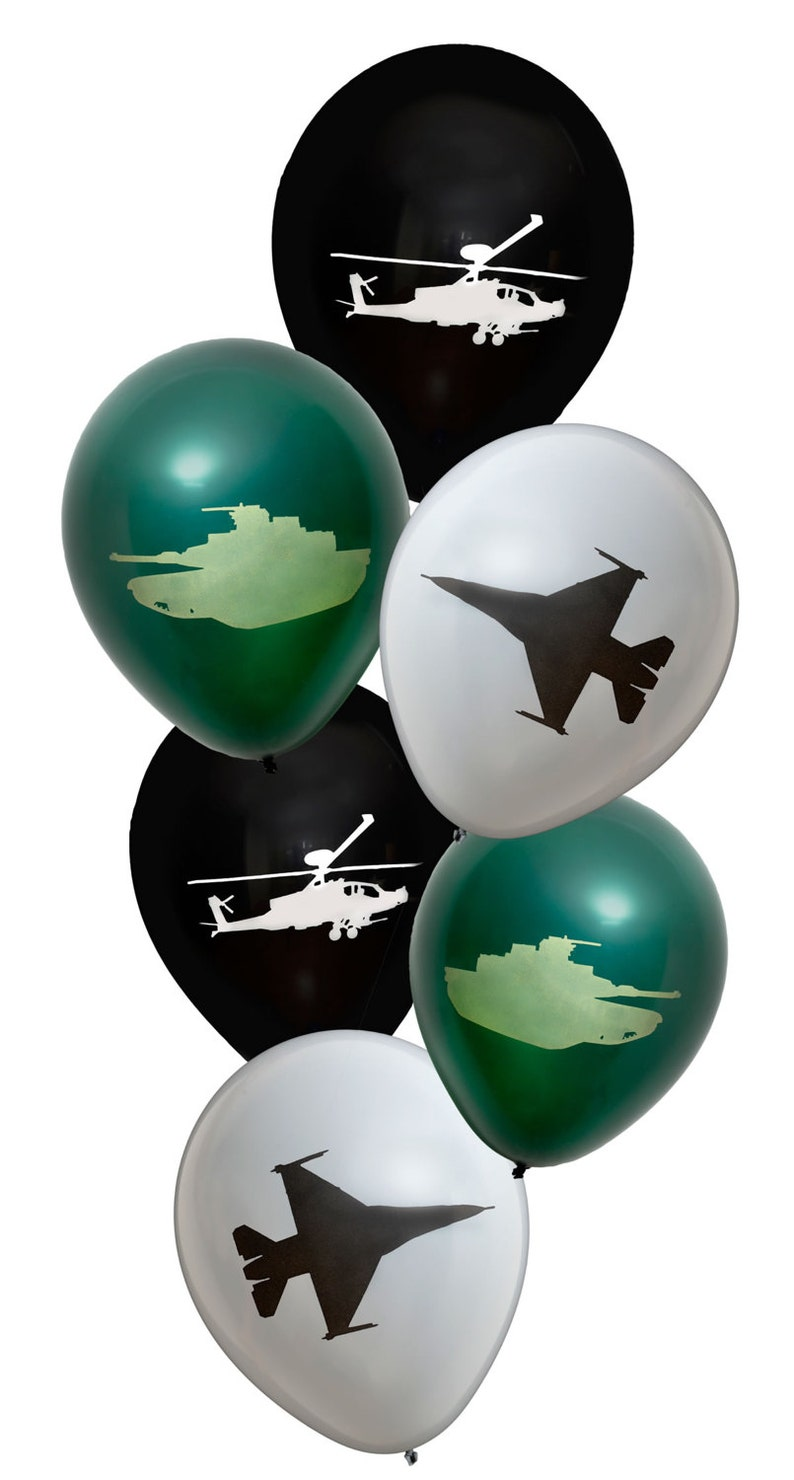 American Military Latex Balloons Army Tank BalloonArmy Themed BalloonsMilitary Theme DecorationsUS Army Balloon Decorations
