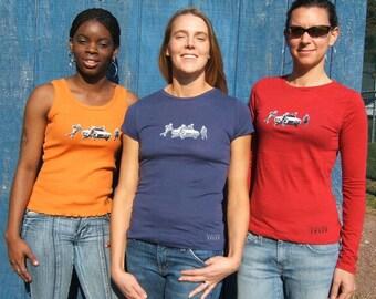Nice Grab! (tank, T-shirt, long sleeve) (colors: orange, red, blue)