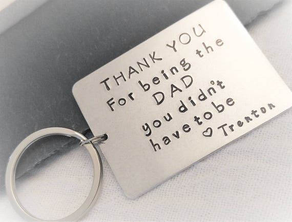 Personalized Stepdad Key Chain Step Father