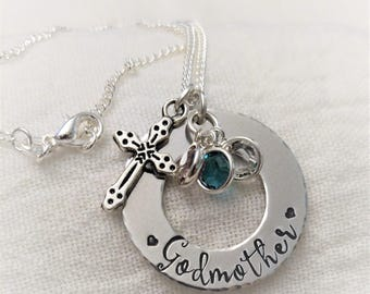 Godmother Necklace, Godmother Jewelry, Gift for Godmother, Baptism Jewelry, Confirmation Jewelry, Godmother Gift, First Communion Jewelry