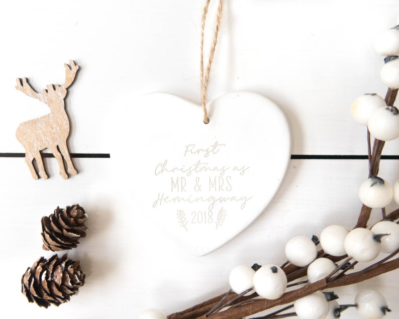 First Christmas As Mr And Mrs Personalised Wedding Gift Etsy