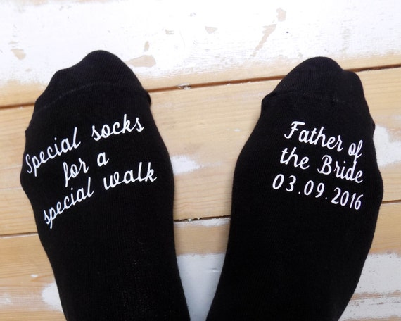 Wedding Gift Ideas Australia: Personalised Wedding Socks Father Of The Bride Special