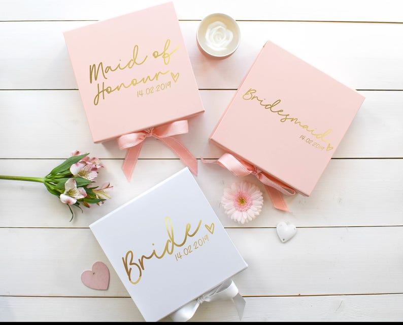 Personalised Wedding Gift Box Bridal Party Gift Be My Etsy