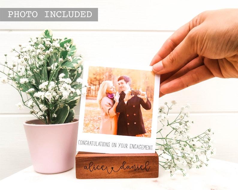 Gepersonaliseerde verlovingscadeau  Hidden Message Polaroid image 0
