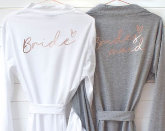 Wedding Robes - Bridal Dressing Gowns - Hen Party - Bachelorette Party - Bridal Present - Kimono - Bride Bridesmaid Maid of Honour Robes