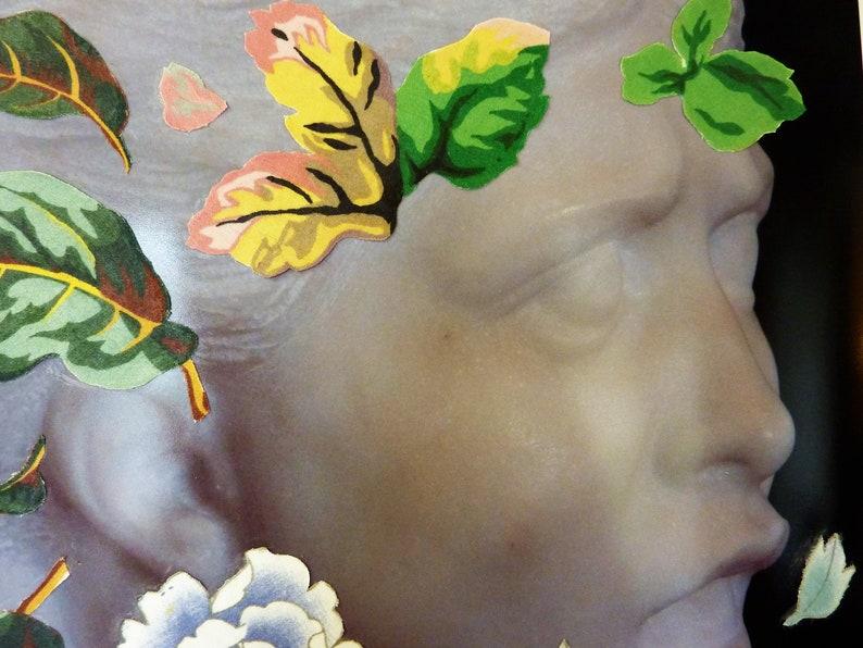 Kim Jones  Mythology  Wall Art Mother Nature  Original Mixed Media Photography /& Fabric Collage  11 x 14  Canadian Artist