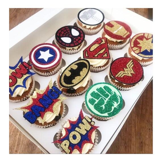 Marvel Heroes ensemble à Motif Personnalisé comestibles gâteau Toppers Officieux